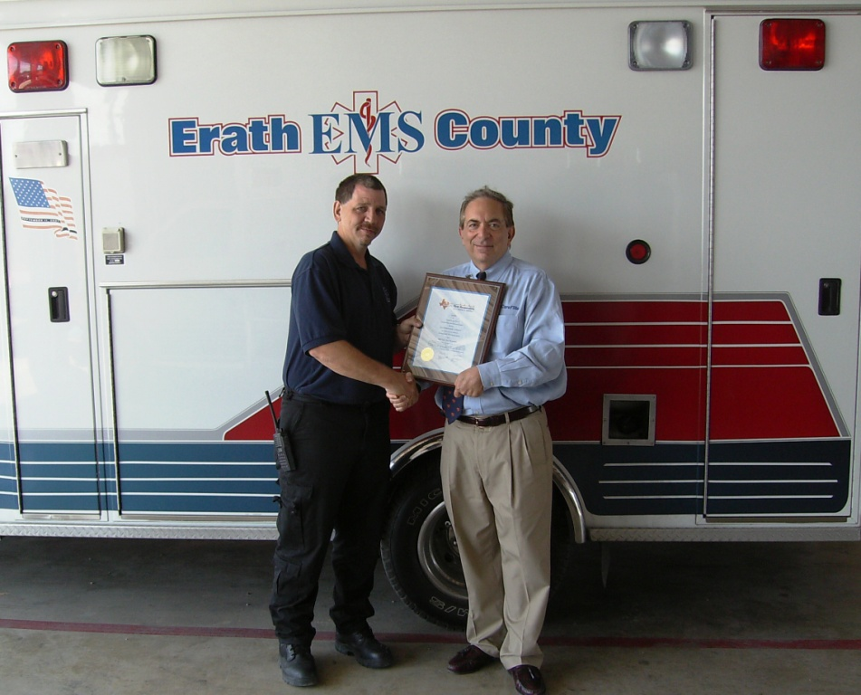 Stan Babkowski presented the 2008 Great First Responder Award